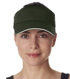 8113 UltraClub® Classic Cut Brushed Cotton Twill Sandwich Visor