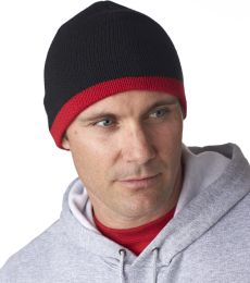 8132 UltraClub® Two-Tone Acrylic Knit Beanie