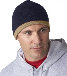 8132 UltraClub® Two-Tone Acrylic Knit Beanie