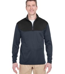 UltraClub 8233 Adult Cool & Dry Sport Colorblock Quarter-Zip Pullover