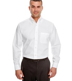8330 UltraClub® Men's Blend Performance Poplin Woven Shirt