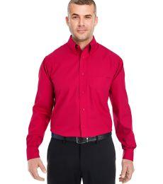 8330 UltraClub® Men's Blend Performance Poplin Woven Shirt