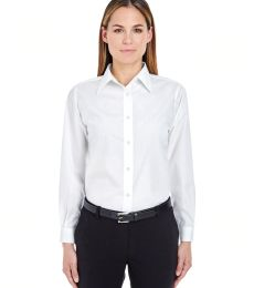 8331 UltraClub® Ladies' Blend Performance Poplin Woven Shirt