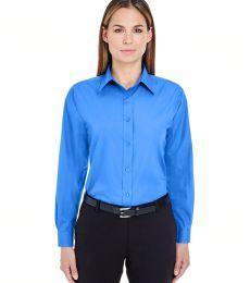 8331 UltraClub® Ladies' Blend Performance Poplin Woven Shirt
