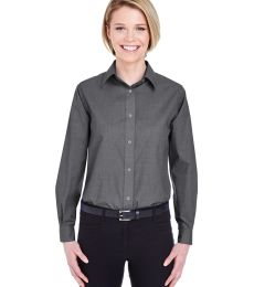 8341 UltraClub® Ladies' Wrinkle-Free End-on-End Blend Woven Shirt