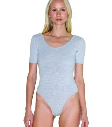 Ladies' Cotton Spandex Short Sleeve Double U-Neck Bodysuit