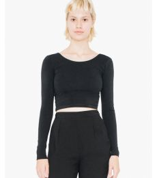 American Apparel 8379W Ladies' Cotton Spandex Long Sleeve Crop Top