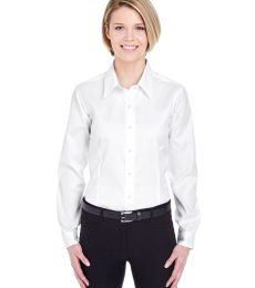 8381 UltraClub® Ladies' Non-Iron Cotton Pinpoint Woven Shirt
