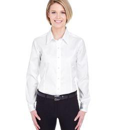 8381 UltraClub® Ladies' Non-Iron Cotton Pinpoint Woven Shirt