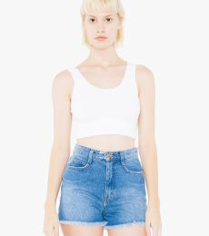 American Apparel 8384W Ladies' Cotton Spandex Crop Tank