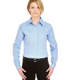UltraClub 8385L Ladies' Medium-Check Woven