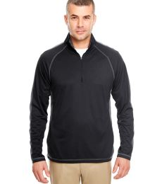 8398 UltraClub® Adult Cool & Dry Sport 1/4-Zip Performance Pullover