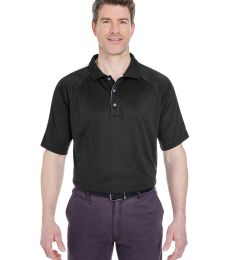 8409  UltraClub® Adult Cool & Dry Sport Shoulder Block Mesh Performance Polo