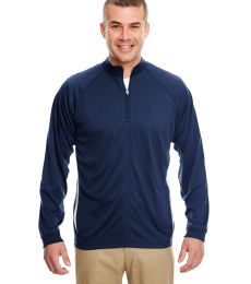 8432 UltraClub® Adult Cool & Dry Sport Long-Sleeve 1/4-Zip Performance Pullover