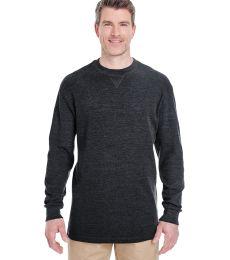 8455 UltraClub® Adult Mini Thermal Cotton Crewneck
