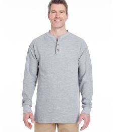 8456 UltraClub® Adult Mini Thermal Cotton Henley