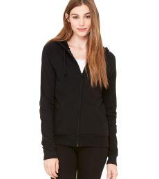 BELLA 7007 Womens Zip-up Fleece Hoodie