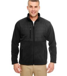 UltraClub 8492 Men's Fleece Jacket with Quilted Yoke Overlay