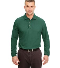 8532 UltraClub® Adult Long-Sleeve Classic Pique Cotton Polo