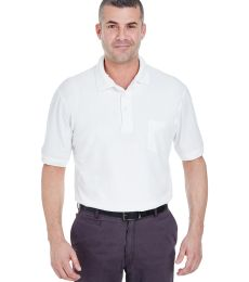 8544 UltraClub® Adult Whisper Pique Blend Polo with Pocket