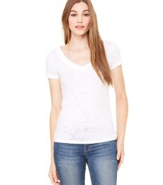 BELLA 8605 Ladies Burnout V-Neck T-shirt