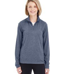 UltraClub 8618W Ladies' Cool & Dry Heathered Performance Quarter-Zip