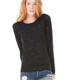 BELLA 8650 Womens Long Sleeve Burnout T-shirt