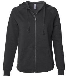 Independent Trading Co. PRM2500Z Women's California Wave Wash Zip Hood