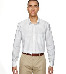 North End 87044 Men's Align Wrinkle-Resistant Cotton Blend Dobby Vertical Striped Shirt