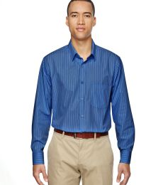 North End 87044 Men's Align Wrinkle-Resistant Cotton Blend Dobby Vertical Striped Shirt