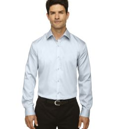 88673 North End Sport Blue boulevard Men's Wrinkle-Free 2-Ply 80's Cotton Dobby Taped Shirt