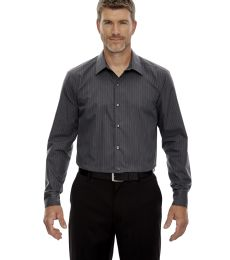 88674 North End Sport Blue Boardwalk Men's Wrinkle Free 2-Ply 80's Cotton Striped Taped Shirt