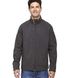 88801 Ash City - North End Sport Blue Men's Skyscape Three-Layer Textured Two-Tone Soft Shell Jacket