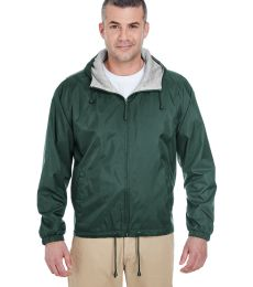 8915 UltraClub® Adult Nylon Fleece-Lined Hooded Jacket