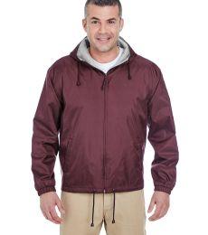 8915 UltraClub® Adult Nylon Fleece-Lined Hooded Jacket