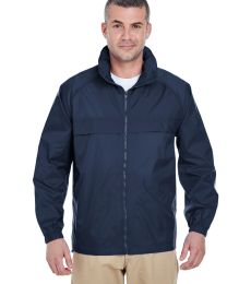 8929 UltraClub® Adult Hooded Nylon Zip-Front Pack-Away Jacket