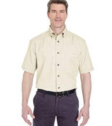 UltraClub 8965C Adult Short-Sleeve Cypress Twill with Pocket