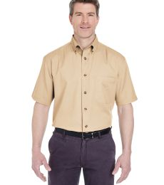 UltraClub 8965C Adult Short-Sleeve Cypress Twill with Pocket