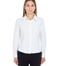 8976 UltraClub® Ladies' Whisper Twill Blend Woven Shirt
