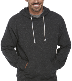 94200 Delta Apparel Adult Unisex Snow Heather French Terry Hoodie