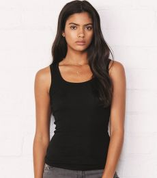BELLA 8780 Womens Sheer Ribbed Tank Top
