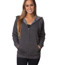 PRM33SBZ Independent Trading Co. Unisex Special Blend Raglan Hooded Full-Zip Sweatshirt