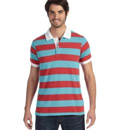 AA1905 alternative Men's Ugly Stripe Short-sleeve Polo