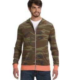 AA1970P Alternative Men's Eco Long-Sleeve Printed Zip Hoodie