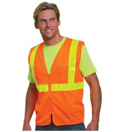 BA3780 Bayside Mesh Safety Vest - Orange