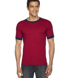 American Apparel BB410 Unisex Poly-Cotton Short Sleeve Ringer T-Shirt