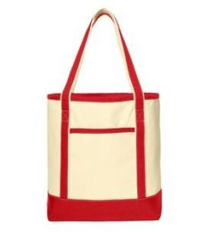 242 BG413 Port Authority Large Cotton Canvas Boat Tote
