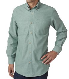 BP7004 Backpacker Men's Yarn-Dyed Chambray Woven Shirt