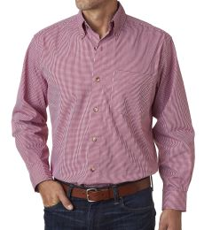 BP7011 Backpacker Men's Yarn-Dyed Micro-Check Woven Shirt