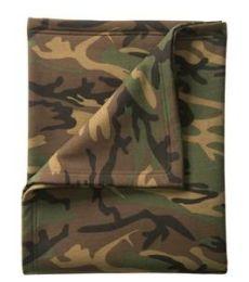 Port & Co BP78C mpany   Core Fleece Camo Sweatshirt Blanket